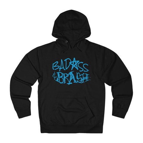 Badass and Brash Blue  Logo Pullover Hoodie