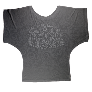 Badass and Brash Ghost AOP Batwing Top