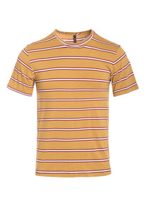 Striped  Short Sleeve Soft T-Shirt - UV-TA57