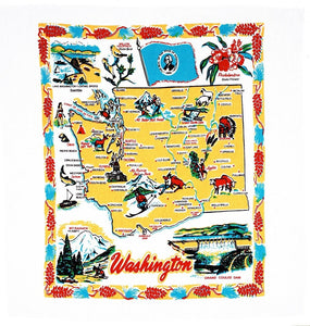 Washington State Retro Dish Towel