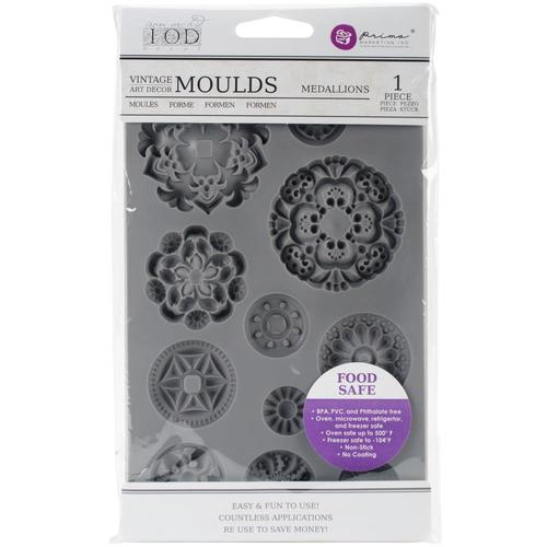 Iron Orchid Design Medallions Mould - colourmekt