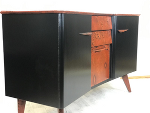 Black Orange Sideboard, Storage, Cupboard, Drinks Cabinet - colourmekt