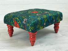 Ministry of Upholstery Stool, Footstool, Orange, Emma Shipley fabric - colourmekt