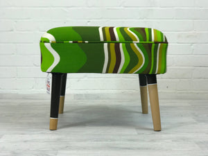 Ministry of Upholstery Contemporary Green Stool - colourmekt