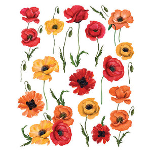 Re Design with Prima Transfers - Poppy Gardens