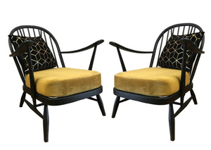 Pair of Ercol Arm Chairs - colourmekt