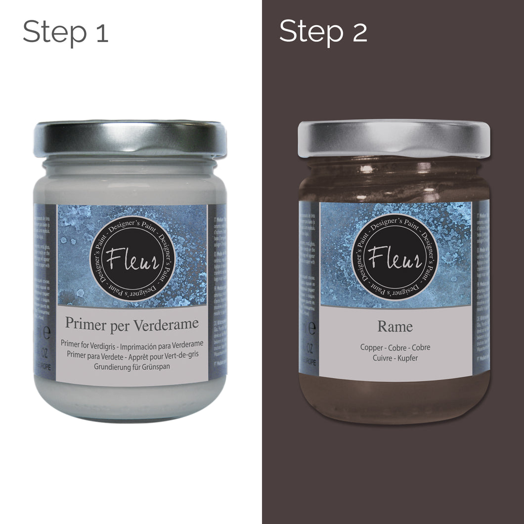 Fleur Real Reactive Copper Verdigris Base Paint