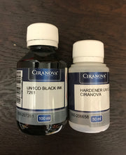 Ciranova Unico SFO Black Ink 100ml with 35ml Hardener - colourmekt