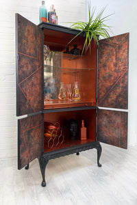 Copper and Black Vintage Drinks Cabinet