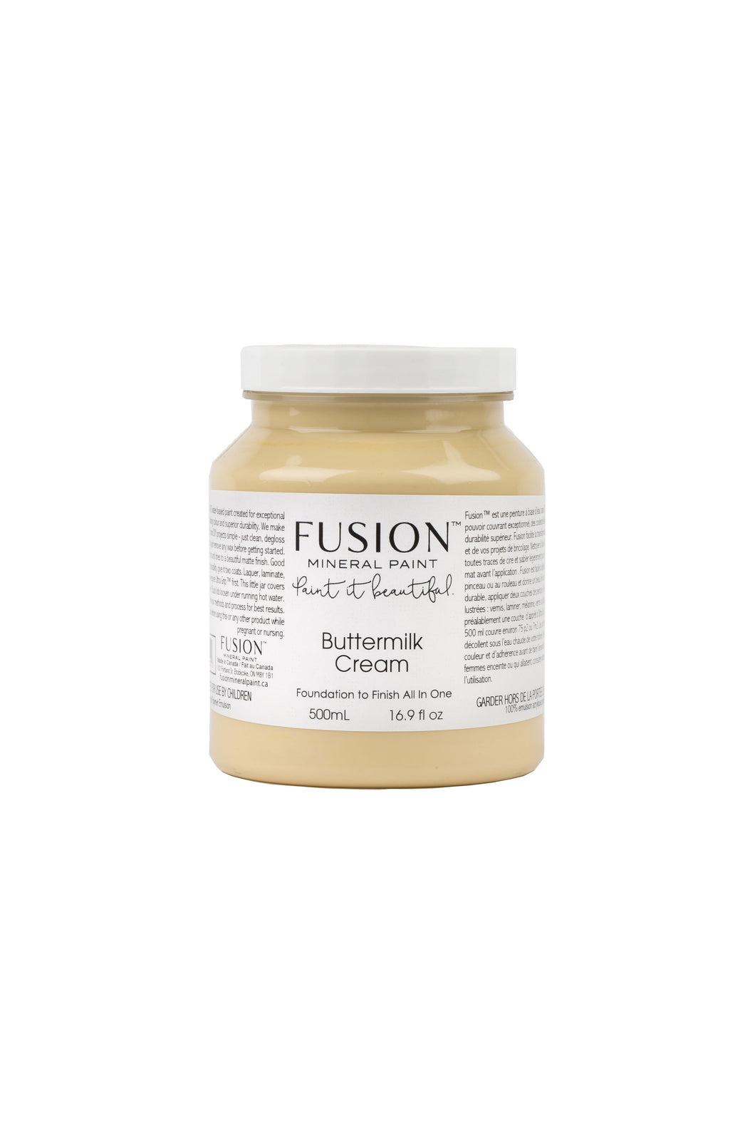 Fusion mineral paint | Buttermilk Cream | 500ml | Colour Me KT