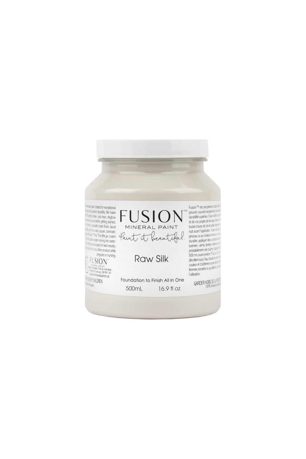 Fusion mineral paint | Raw Silk | 500ml | Colour Me KT