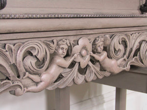 S O L D !!!!!!!!!!!!!!!  Ornate Sideboard, Taupe Sideboard, French Style Buffet, Carved Sideboard, Sideboard, Vintage Sideboard - colourmekt