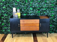 S O L D ! Mid-century modern black sideboard by McIntosh - colourmekt