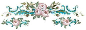 "IOD Dresser Up Decor Transfer ""Rosette Large"" 18.4x6.4 - colourmekt"