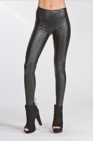 Pleather Fitted Legging - Black