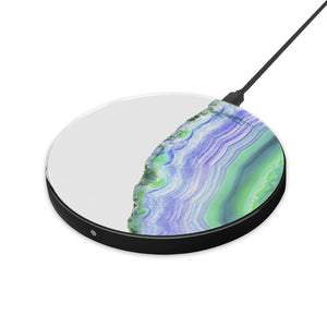 Agate Slice - hyvela - Qi Enabled Wireless Charging Pad