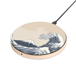 Kanagawa Wave - hyvela - Qi Enabled Wireless Charging Pad
