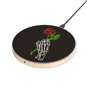 Neon Rose - hyvela - Qi Enabled Wireless Charging Pad