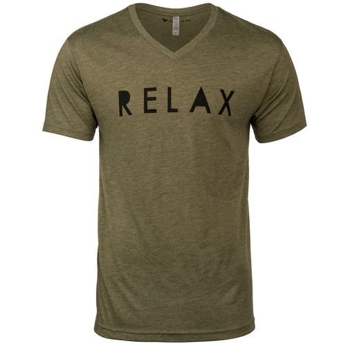 Relax Block Design Men's V-Neck