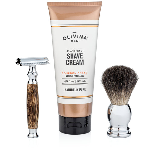 Close Shave Essentials- Olivina Men + Live Love Spa
