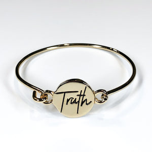 "Lucky Owl ""Truth"" Bangle Bracelet"
