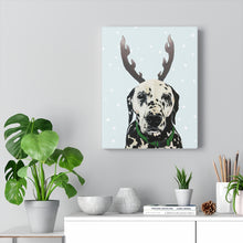 Load image into Gallery viewer, Holiday Pups - Dalmatian on Canvas Gallery Wrap
