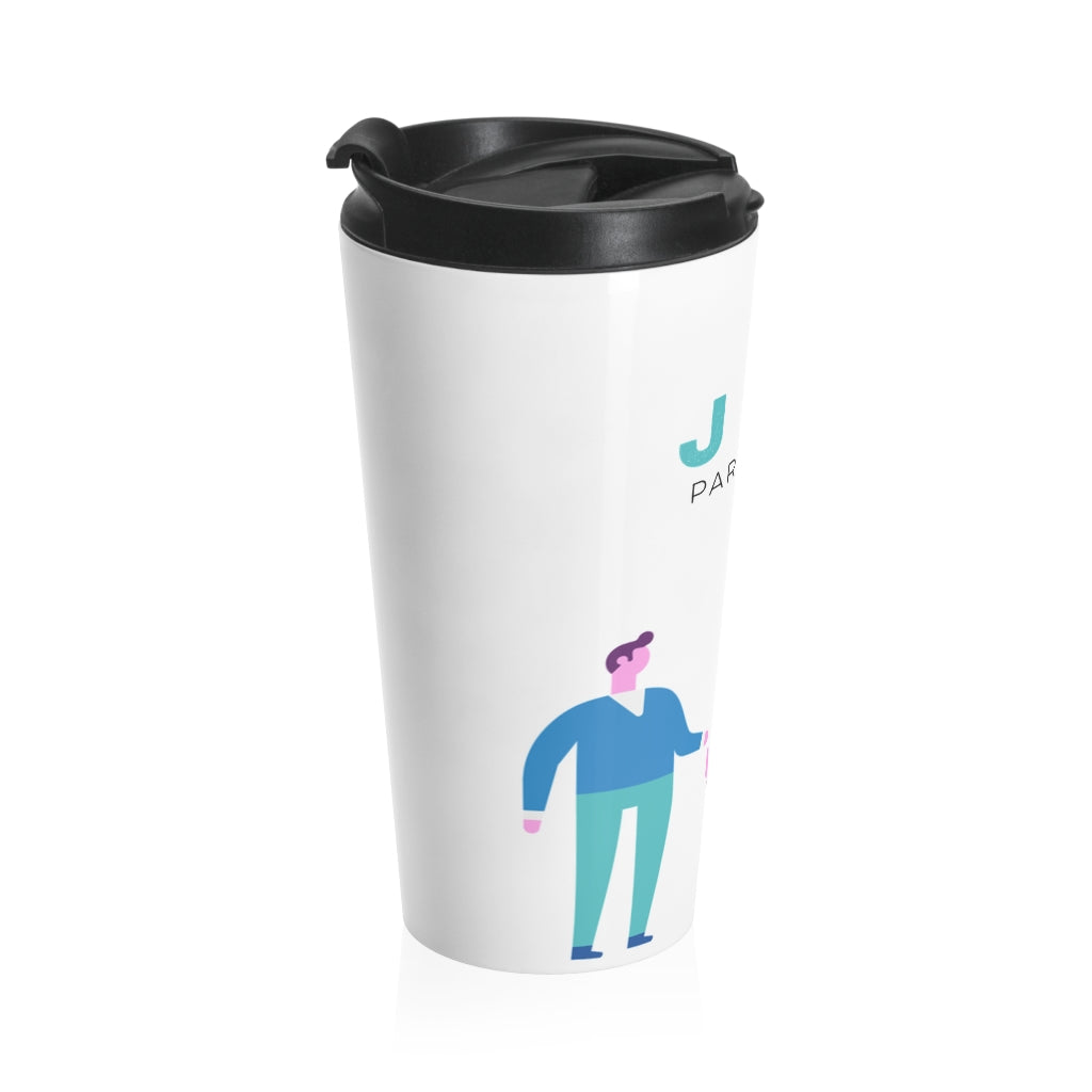 Two Papas Stainless Steel Travel Mug ( JSC )