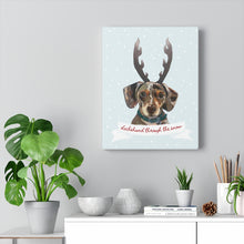 Load image into Gallery viewer, Holiday Pups - Dachshund Through The Snow on Canvas Gallery Wrap