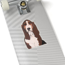 Load image into Gallery viewer, Buster the Basset Hound Kiss-Cut Sticker