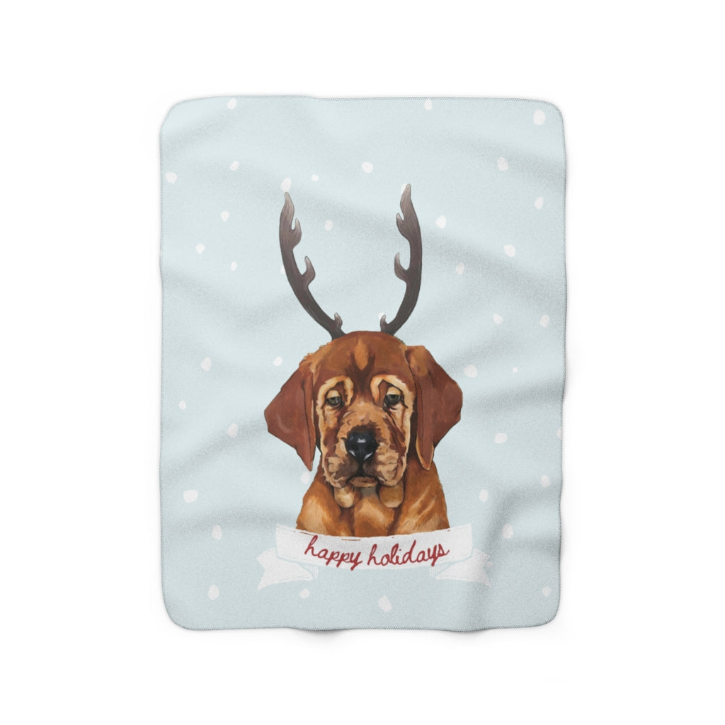 Holiday Pups -  Auggie Sherpa Fleece Blanket