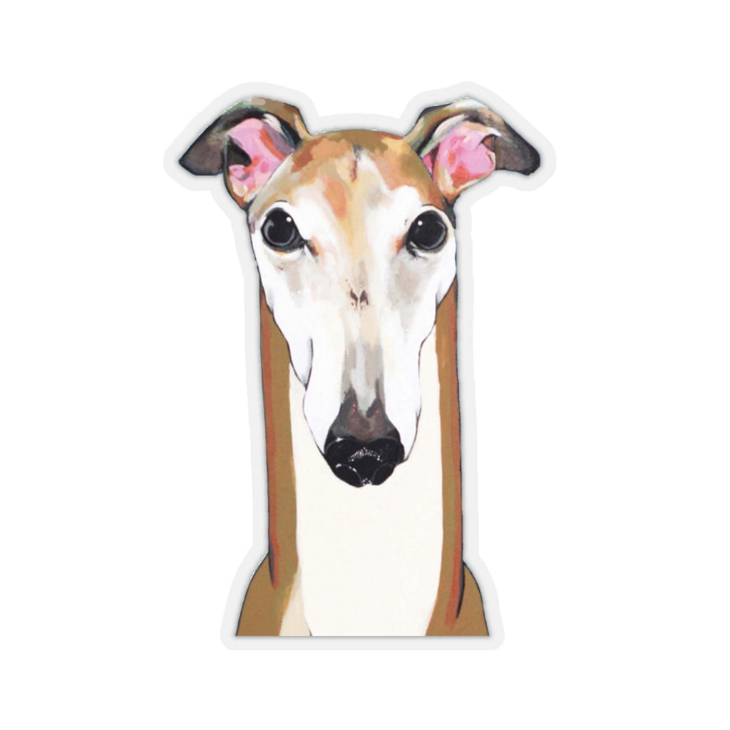 Ron the Greyhound Kiss-Cut Sticker