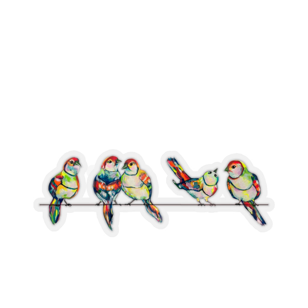 Hotwire Birds 6 inch Sticker