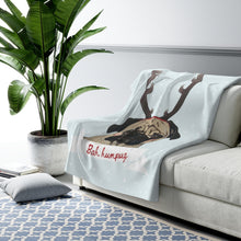 Load image into Gallery viewer, Holiday Pups - Bah Humpug Sherpa Fleece Blanket