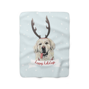 Holiday Pups -  Golden Retreiver Sherpa Fleece Blanket