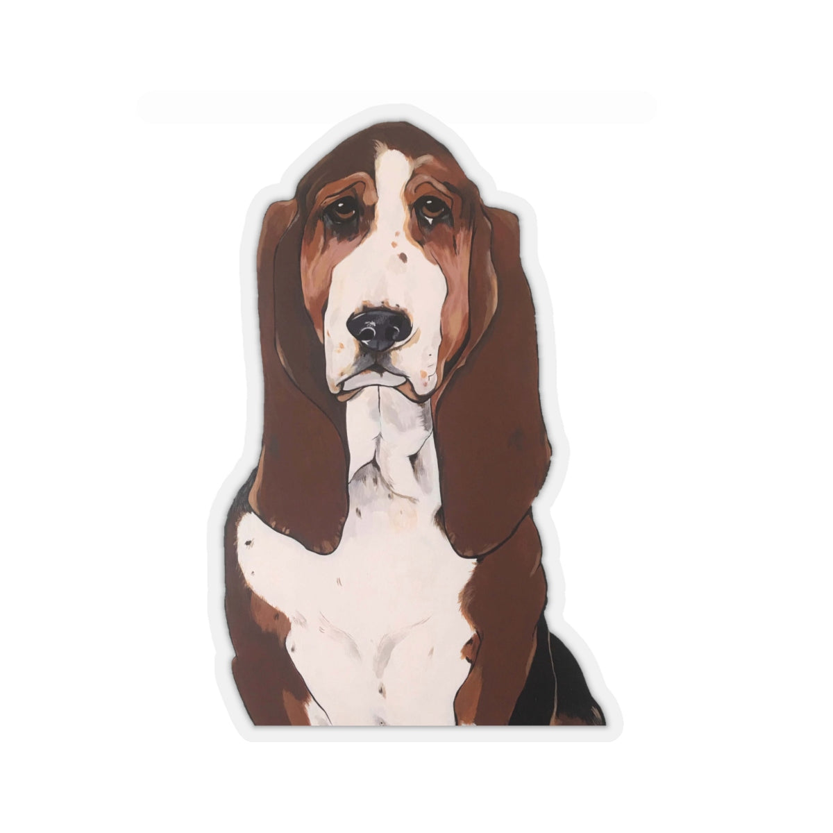 Buster the Basset Hound Kiss-Cut Sticker