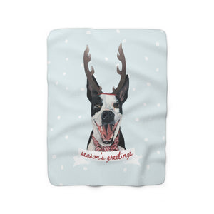 Holiday Pups -  Walker Sherpa Fleece Blanket
