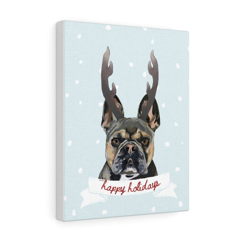 Holiday Pups - XCII Brothers on Canvas Gallery Wrap