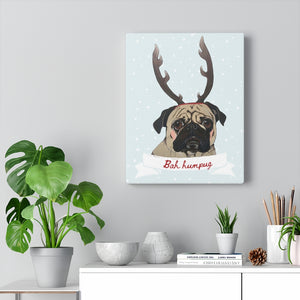 Holiday Pups - Bah Humbug on Canvas Gallery Wrap