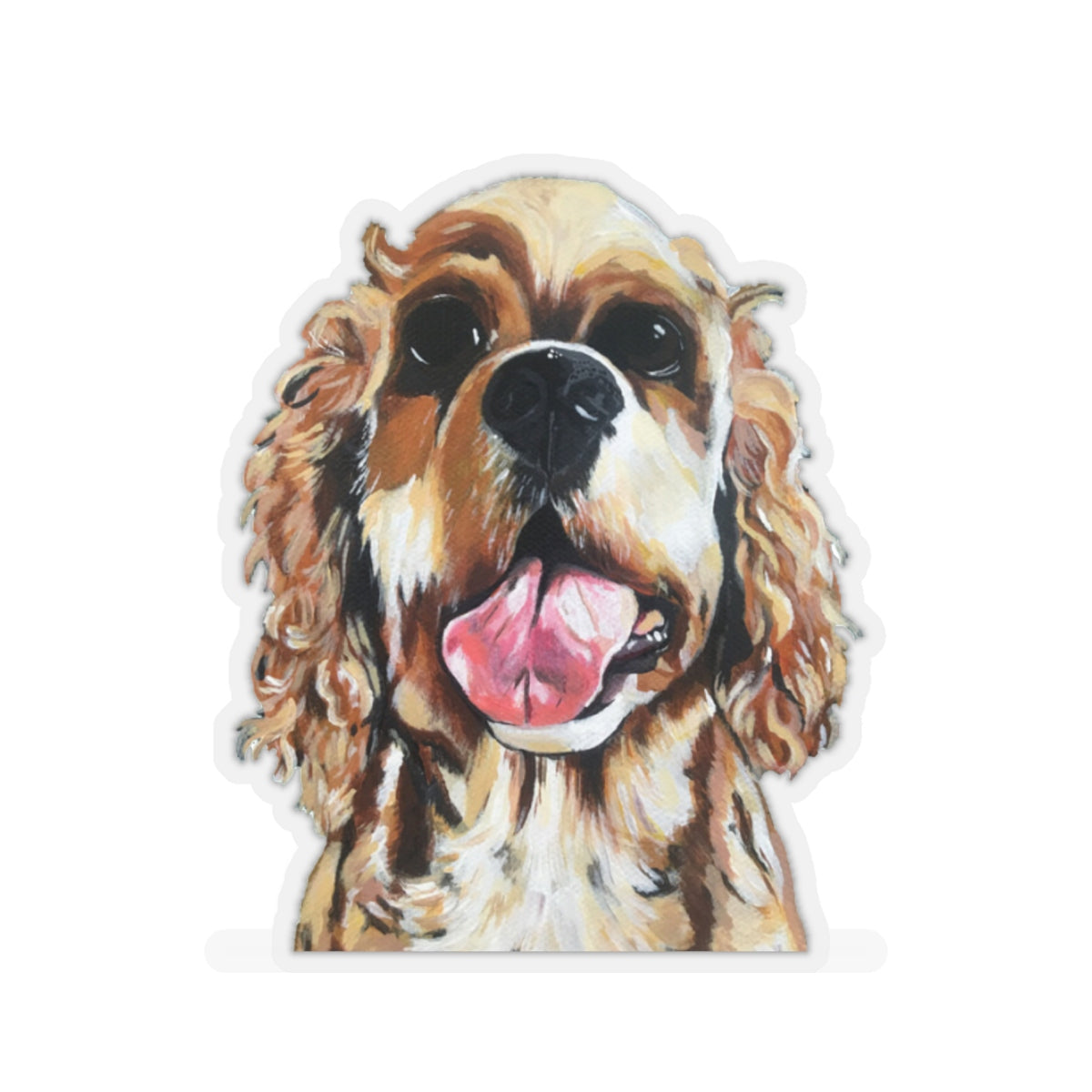 Sandy the Spaniel Kiss-Cut Sticker