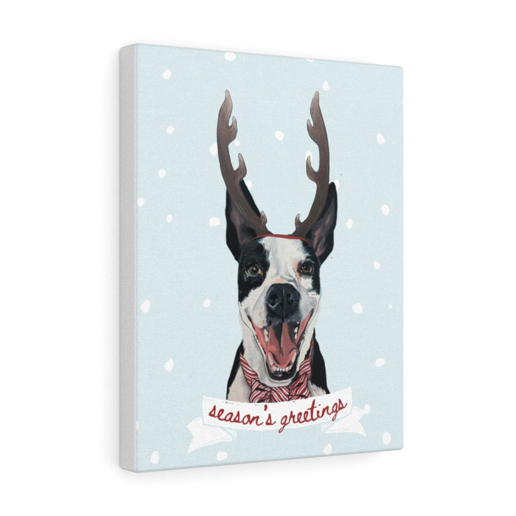Holiday Pups - Walker on Canvas Gallery Wrap