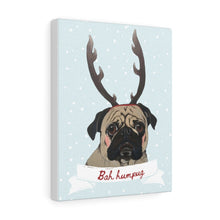 Load image into Gallery viewer, Holiday Pups - Bah Humbug on Canvas Gallery Wrap