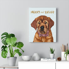 Load image into Gallery viewer, Holiday Pups - Auggie on Canvas Gallery Wrap