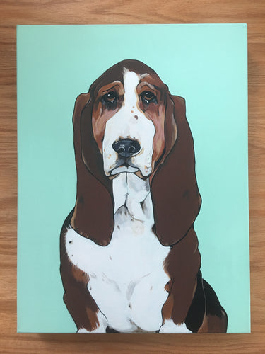 Buster the Basset Hound Original Painting