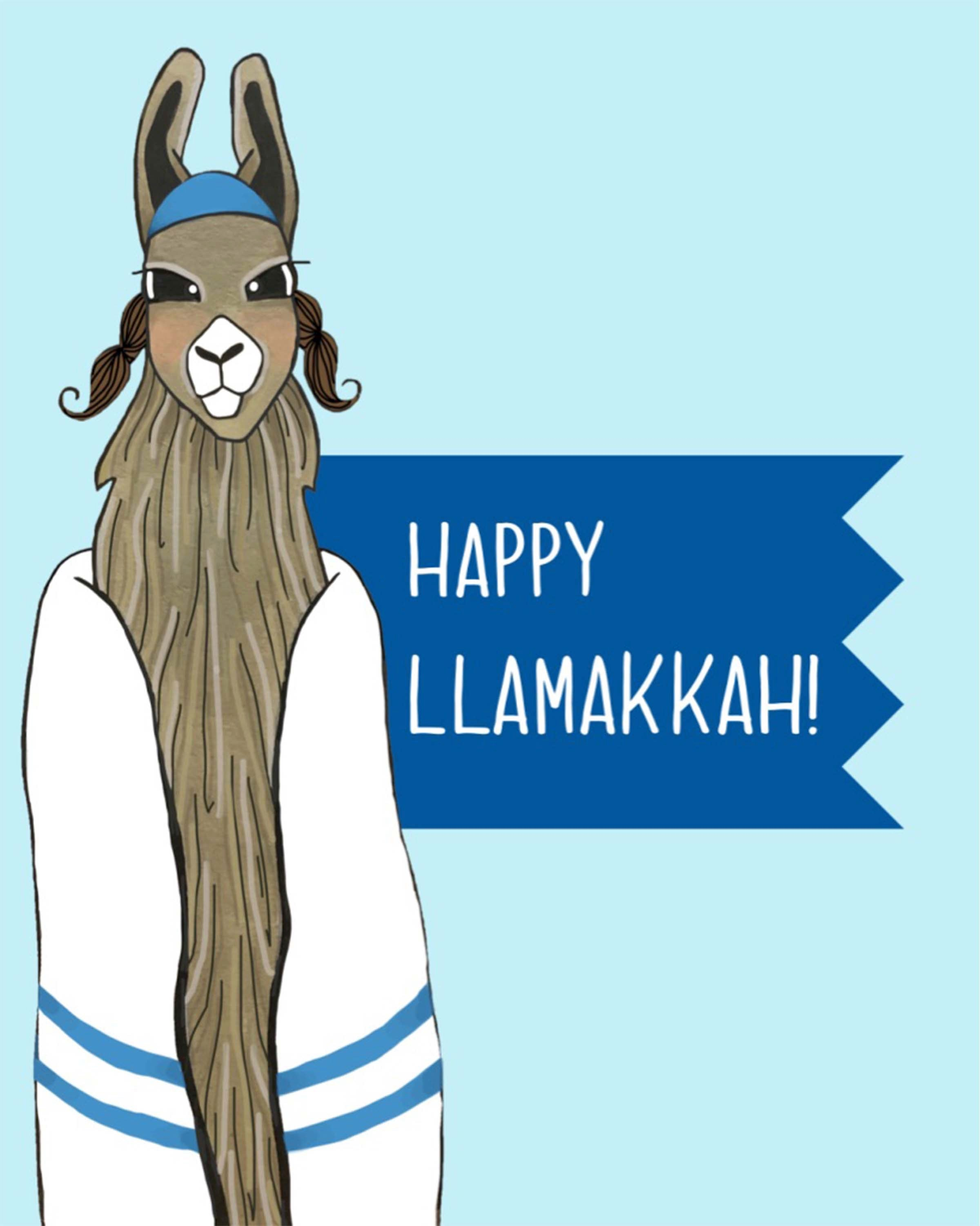 Holiday Print - Happy LLamakkah!