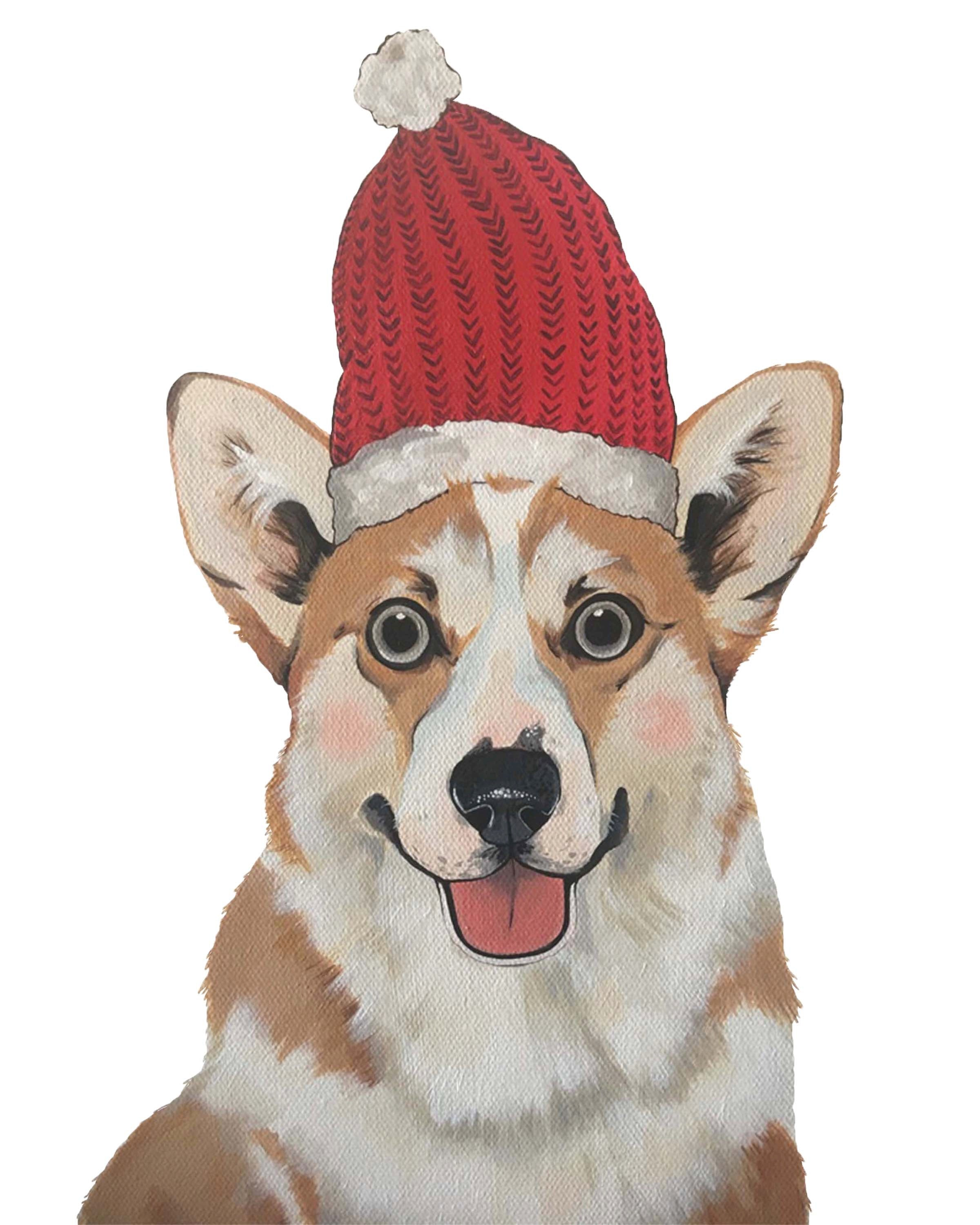 Print - Holiday Corgi