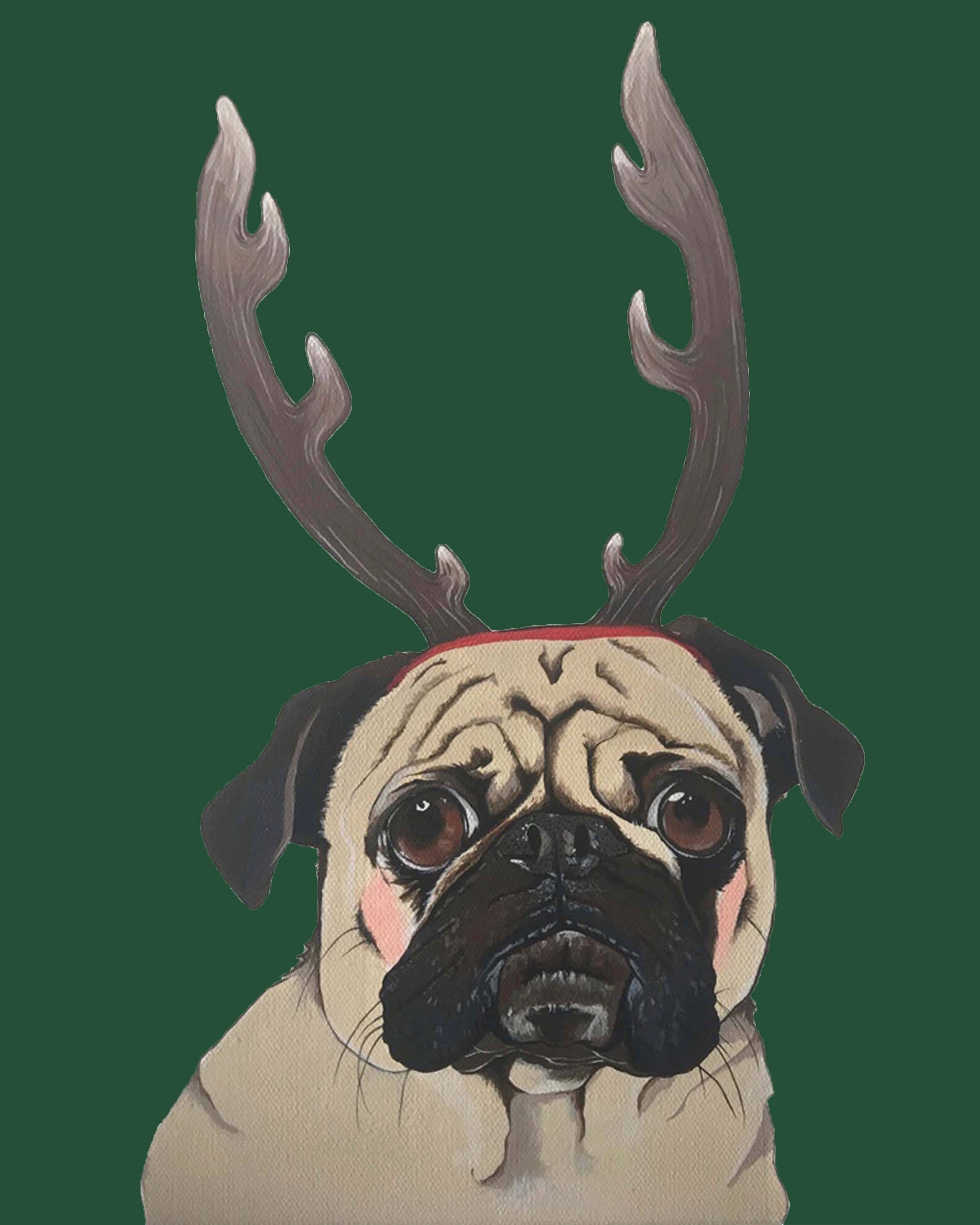Print - Holiday Pug
