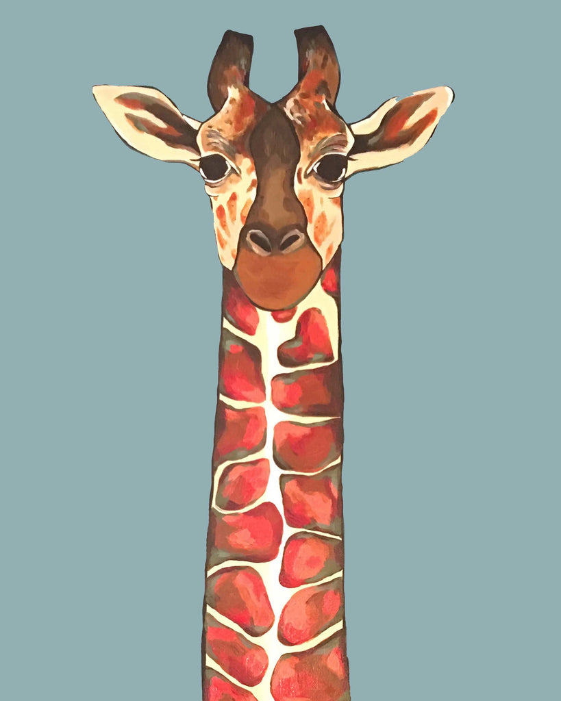 Print - Zuberi the Giraffe