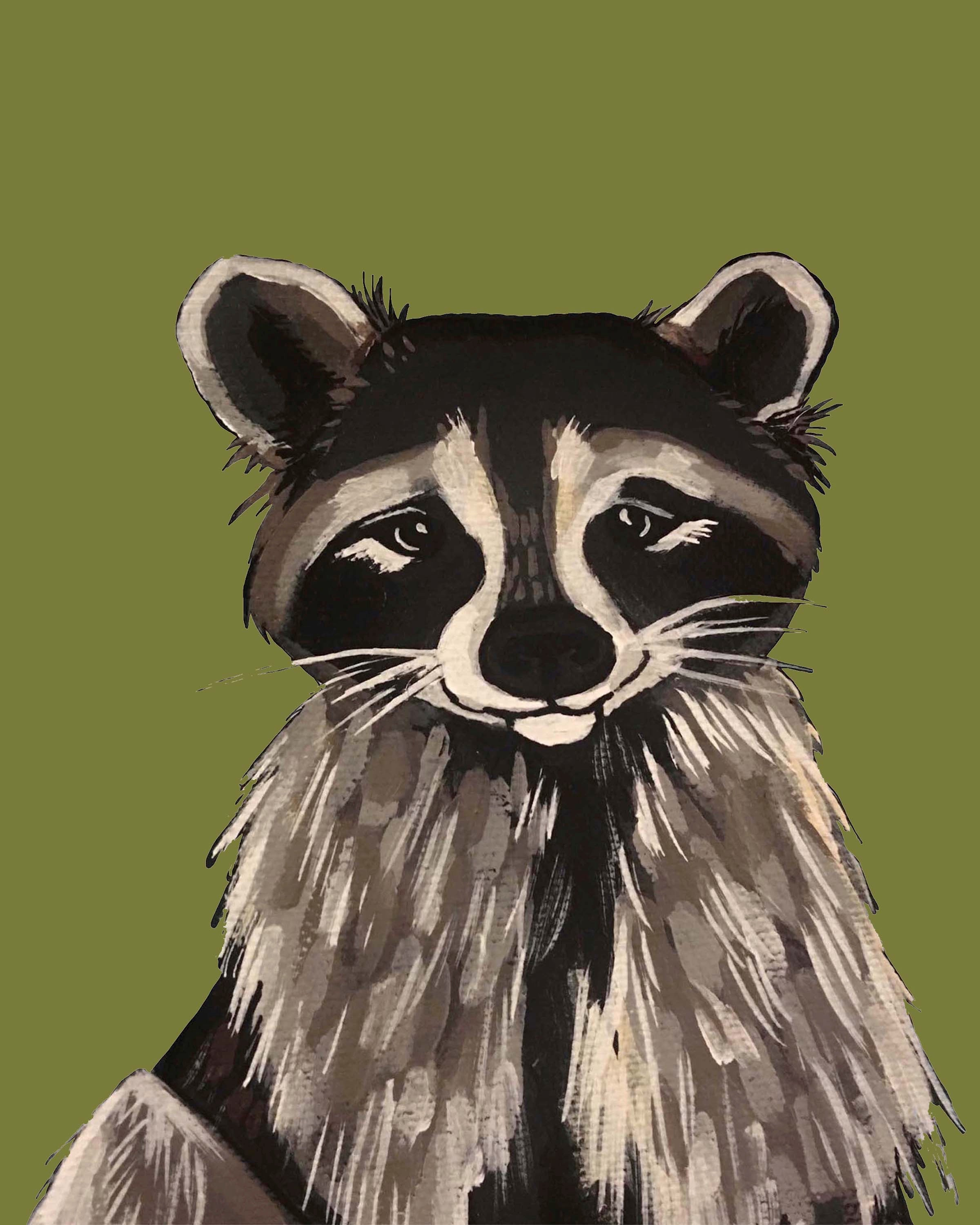 Print - Ricki the Raccoon