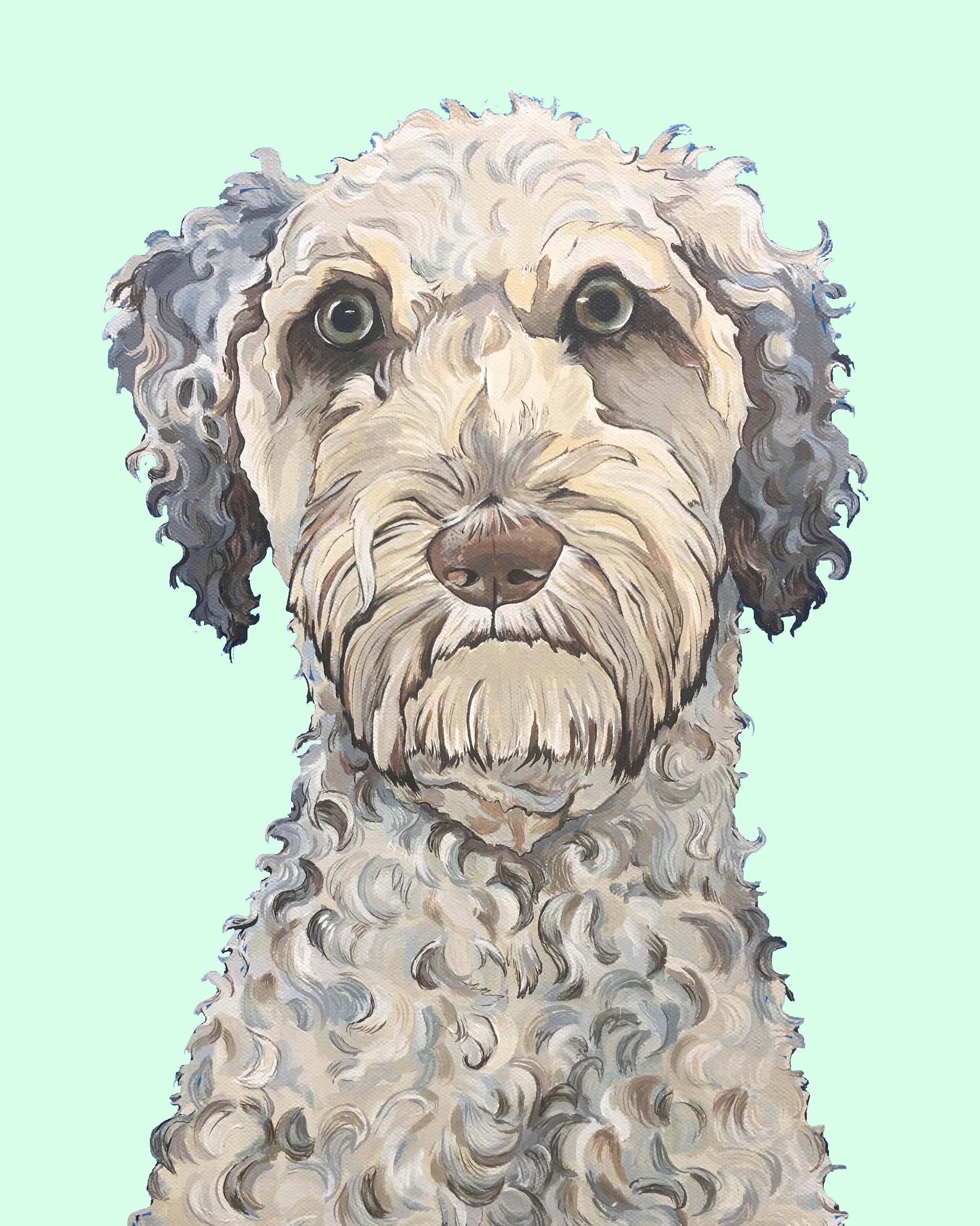 Dog Print - Laddie the LabraDoodle