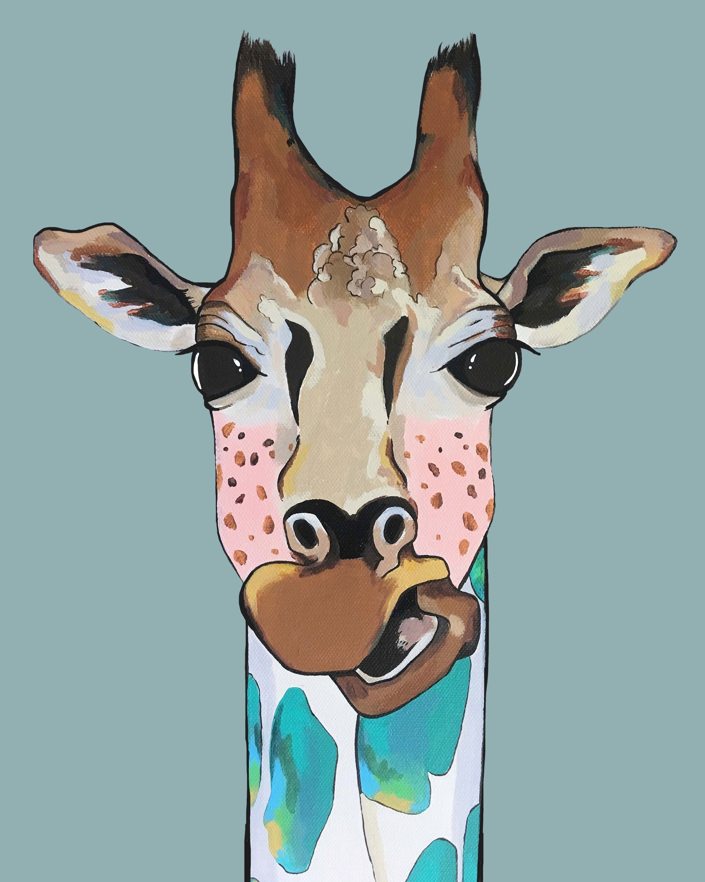 Print - Mary Jane the Giraffe